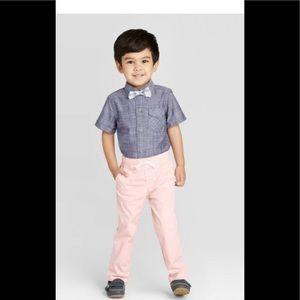 2pc Striped Shirt Bottom Set with Bowtie  size 2T